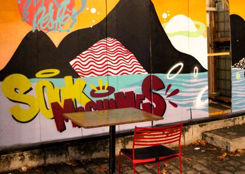 Arty walrus street art